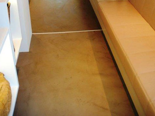 Beton ciré floor repräsantativer showroom