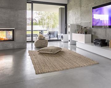 Fußboden Betonoptik ~ Designestrich und natursteinböden für alle wohnbereiche bosus