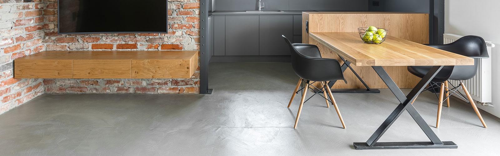 polierter betonboden selber machen fugenlos und betonmbel. Black Bedroom Furniture Sets. Home Design Ideas
