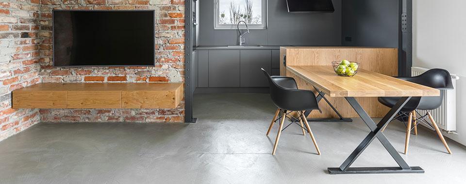 polierter betonboden selber machen material fr bodenbelag with polierter betonboden selber. Black Bedroom Furniture Sets. Home Design Ideas